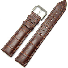 Cowhide Watchbands 19 20 21 22 24mm Genuine Leather Clock Watch Strap Band Accessories Stainless Steel Pin Buckle Clasp цена и фото