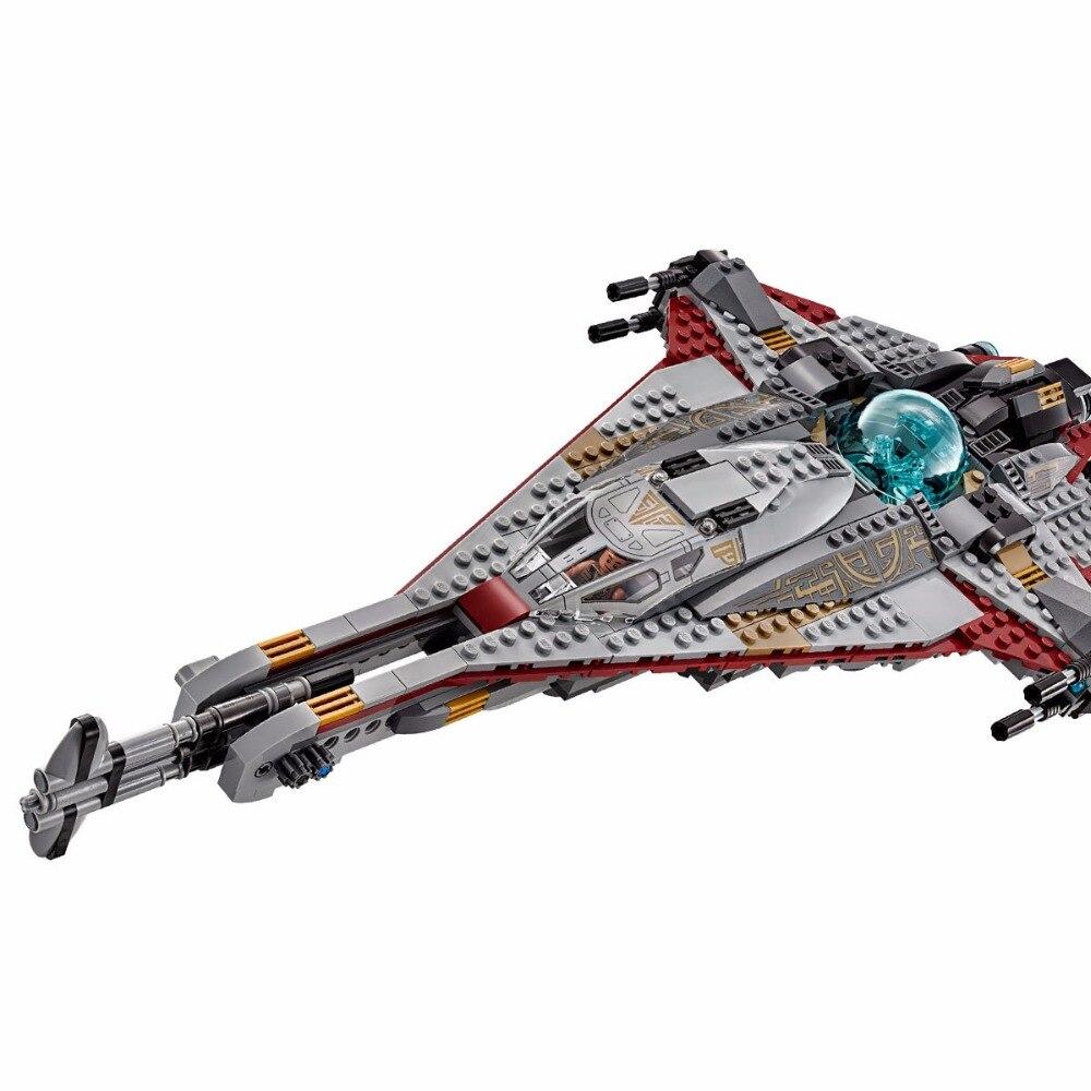 где купить Lepin 05113 Star Wars Series The Arrowhead 800Pcs Mini Bricks Set Fighters Building Blocks Toys For Children Gift 75186 Legoings по лучшей цене