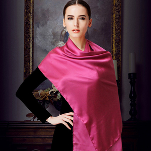 Image 2 - [DANKEYISI] Women Genuine Silk Scarves 100% Natural Silk Scarf Shawls Fashion Pure Color Long Scarf Luxury Brand Neckerchief