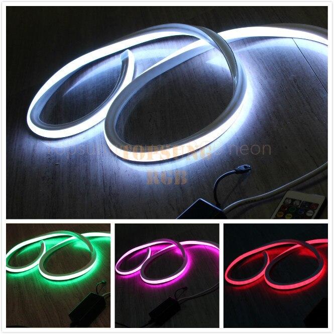 10~50m Top view 24 volt rgb led neon flex wire 12v Square 17x17mm multi color changing DMX rope light 5050 smd flexible strip