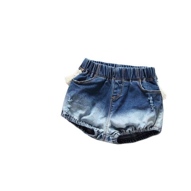 Chica niños bebé borla Jeans shorts niño bragas pantalones cortos Bloomers  de mezclilla ropa de algodón 2ca64517c7bf