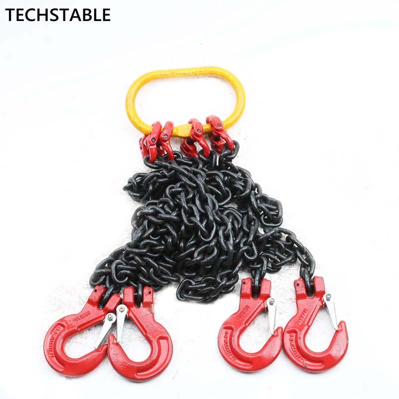 Chaîne de levage sling jambes double crochet combinaison épandeur moule pièces palans à chaîne 2T1 mètre