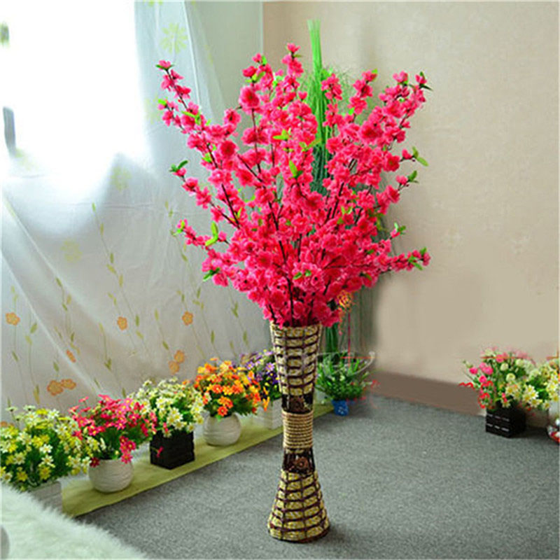 1pcs 65cm Artificial Flowers Peach Blossom Simulation Flower For Wedding Decoration Home Decor In Dried From Garden On