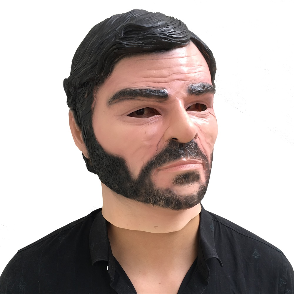 Game Red Dead Redemption John Marston Full Head Mask Cosplay Halloween Latex Masks