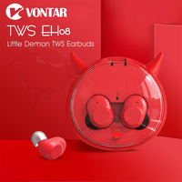 VONTAR EH08 EH10 Little Demon Mini Portable Earbuds Bluetooth Wireless Headphones With Charging Box Noise Cancel