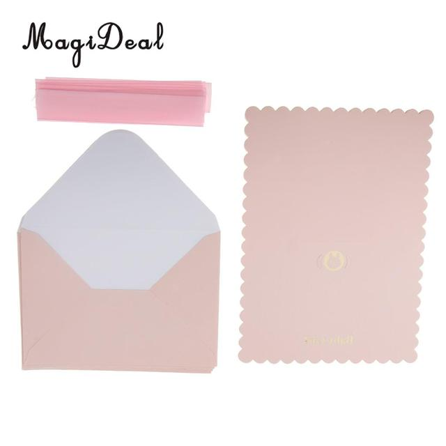 magideal delicate baby shower invitation card blue boy pink girl