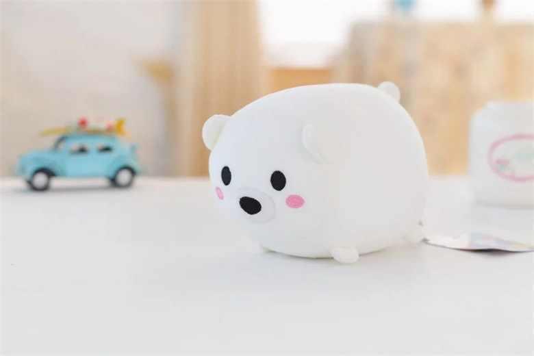 Маленький милый плюшевый игрушка полярный медведь мультфильм белый медведь кукла подарок около 20 см 2589