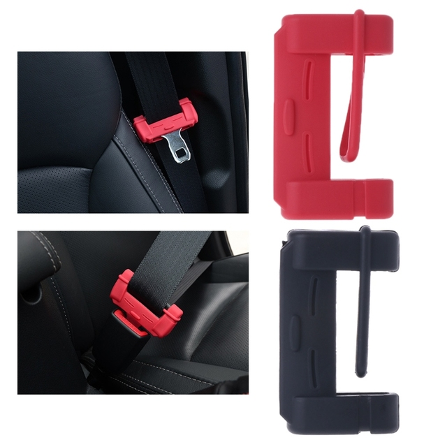 Universal Silicone Car Seat Belt Buckle Covers Clip Anti Scratch Cover