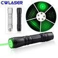 CWLASER 532nm/650nm/405nm фокусируемая зеленая/красная/фиолетовая лазерная указка (819) + спичечное освещение (2 вида цветов)