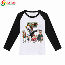 LYTLM Kids Baby Girls Clothes Cartton Long Sleeve Cotton T Shirt Gravity Falls Shirt Vetement Enfant Fille Baby Boy Tshirt Fall