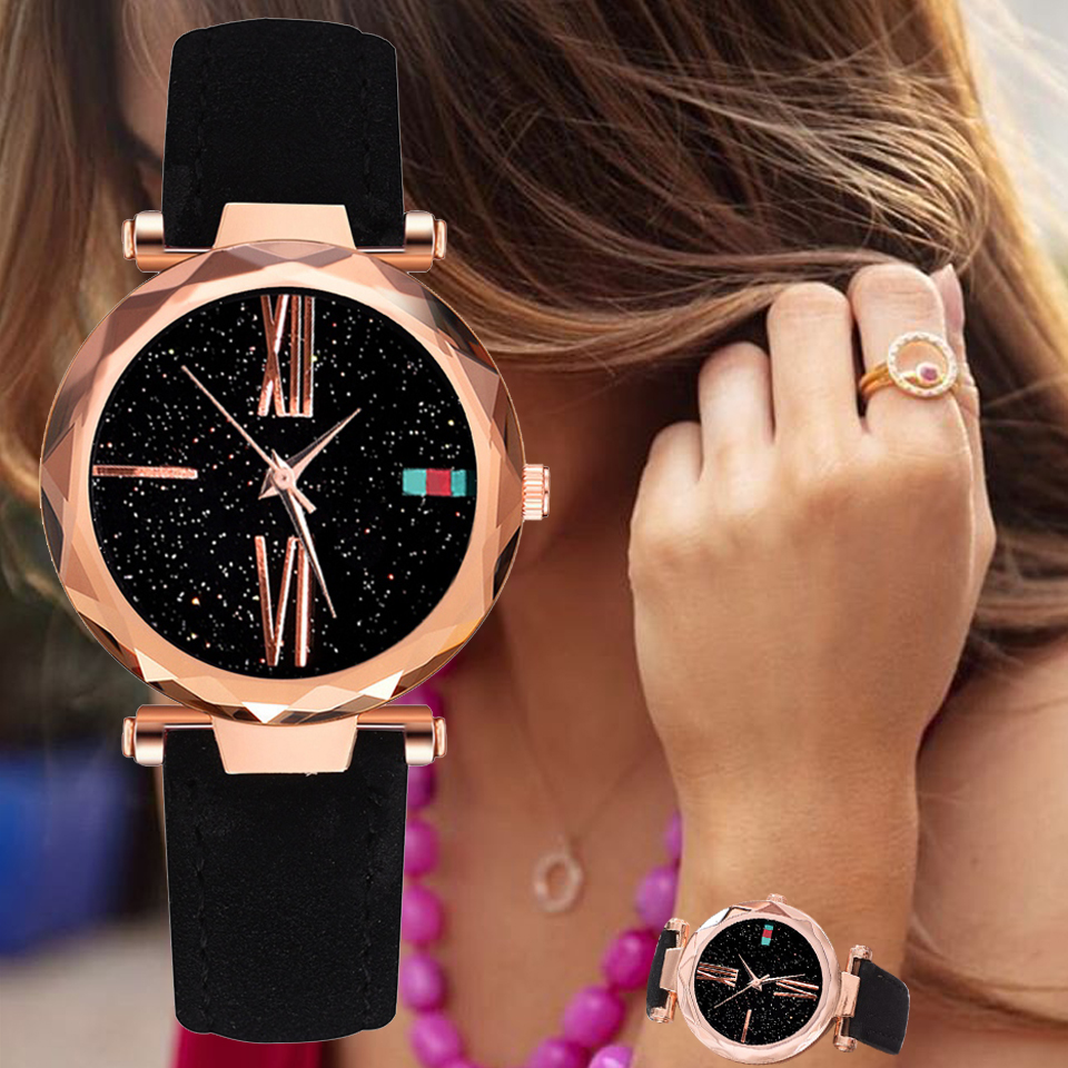New Women Watches Minimalism Starry Sky Leather Buckle Wrist Watch Fashion Casual Female Quartz Wristwatch XR3151New Women Watches Minimalism Starry Sky Leather Buckle Wrist Watch Fashion Casual Female Quartz Wristwatch XR3151