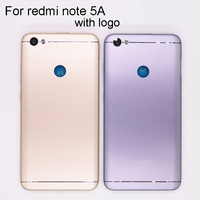 New Housing For Xiaomi Redmi Note 5A Note5a Back Cover Case Battery Rear Door With Power