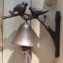 Antique Vintage Rustic Iron Welcome Door Bell Casting Store Home Decorations Gift