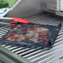 Маленький размер антипригарная сетка сумка для гриля инструмент для пикника Bolsa Barbacoa многоразовые и легко моющиеся антипригарные принадлежности для барбекю Сумка для выпечки FDH