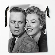 J&w10 New Marilyn Monroe and Richard #5 Custom Printed  receive Bag Compression Type drawstring bags size 18X22cm W725&JYo10