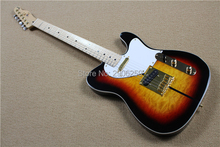 Custom Shop tele guitar vintage sunburst color TL guitar one piece version gold hardware bowlder knobs dog tele guitar retro 3TS