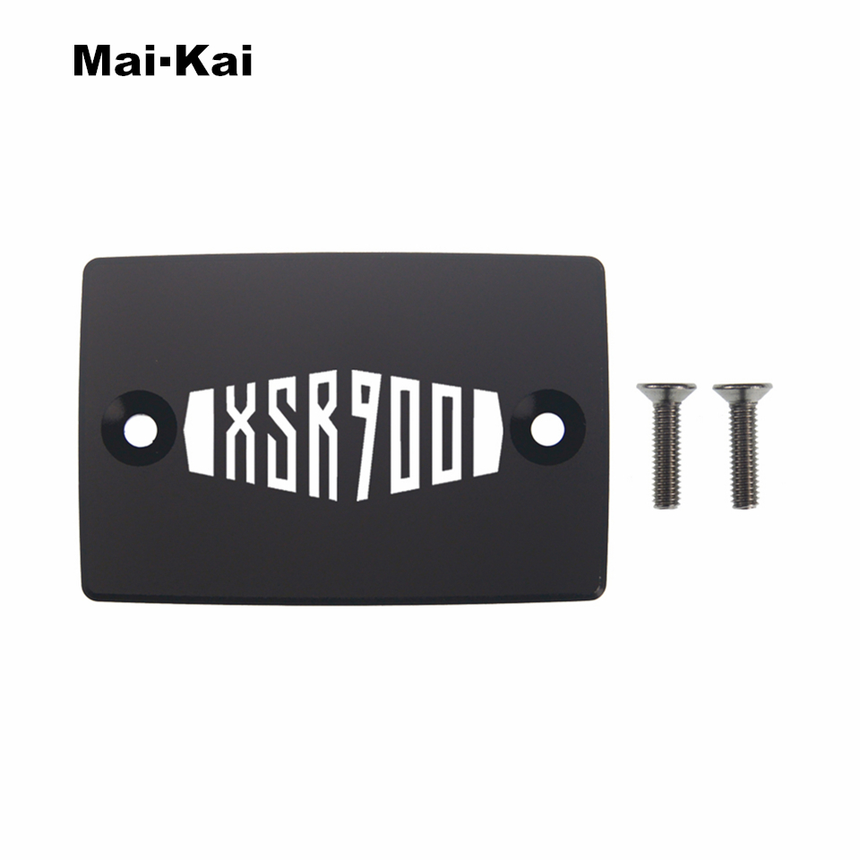 MAIKAI For YAMAHA XSR900 2016-2019 CNC Aluminum Motorcycle Brake Fluid Fuel Tank Cap Cover