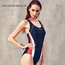 Atlanticbeach Sport Monokini Swimsuits bathing suit Women One Piece Swimsuit Professional Swimwear Sports Pool Training BodySuit