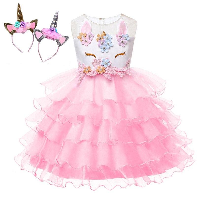 ed7a6667be Comprar Unicórnio Vestido Girl Princess Vestido de Natal Carnaval Traje  Para As Crianças Vestidos de Festa Para Meninas Cosplay Vestido Roupa Das  Crianças ...