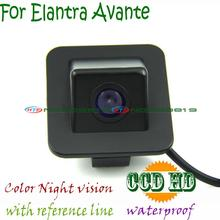 Для sony ccd Hyundai Elantra Avante 2012 Ночного видения автомобиль обращая парковочная камера водонепроницаемый угол провода беспроводной