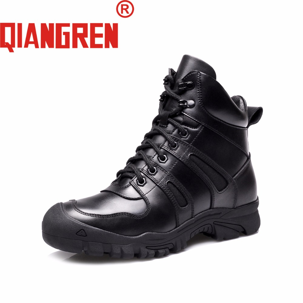 QIANGREN High-grade Quality Military Factory-direct Men's Winter Genuine Leather Wool Rubber Outdoors Tactical Boots Snow Botas new premium promotional yu europe d41x d341x flange rubber seal butterfly valves factory direct quality assurance