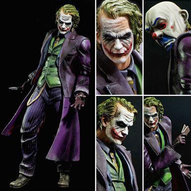 Playarts GIOCA ARTS KAI Batman The Dark Knight Joker PVC Action Figure Colletible Model Toy 21 cm KT1812Playarts GIOCA ARTS KAI Batman The Dark Knight Joker PVC Action Figure Colletible Model Toy 21 cm KT1812