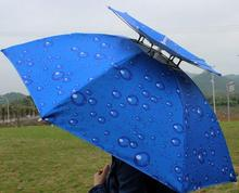 UV Protection Folding Fishing Cap Outdoor Windproof Fishing Umbrella Portable Rain Proof Umbrella Hat