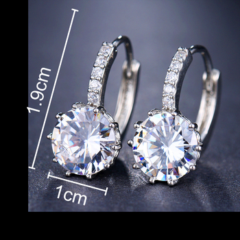 EMMAYA Fashion 10 Colors AAA CZ Element Stud Earrings For Women Wholesale Chea Factory Price 1