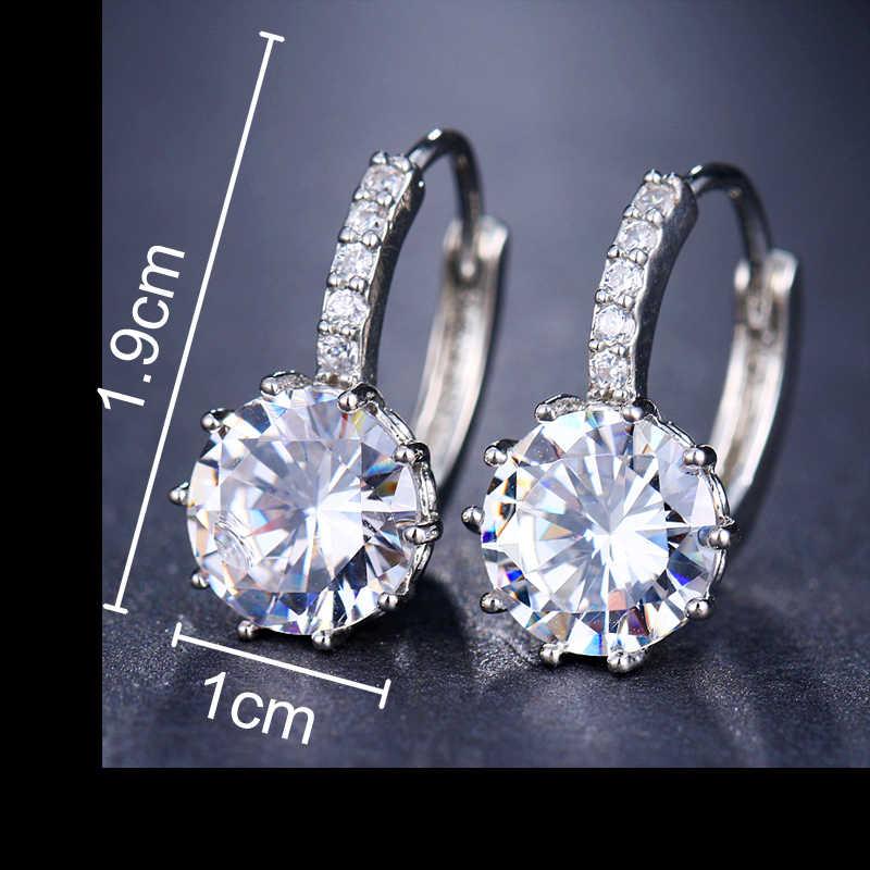 EMMAYA Fashion 10 Colors AAA CZ Element Stud Earrings For Women Wholesale Chea Factory Price