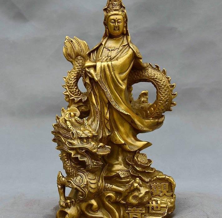 10 Chinese fane Brass GuanYin Kwan-yin Avalokitesvara Bodhisattva Buddha Statue 10 Chinese fane Brass GuanYin Kwan-yin Avalokitesvara Bodhisattva Buddha Statue