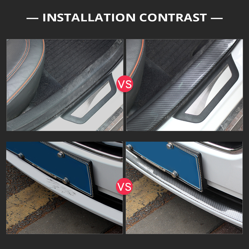 Image 5 - 2M Car Stickers Door Edge Guard Protector Carbon Fiber Film Rubber Moulding Trim Strip DIY 3 Colors For Car Styling Accessories-in Car Stickers from Automobiles & Motorcycles