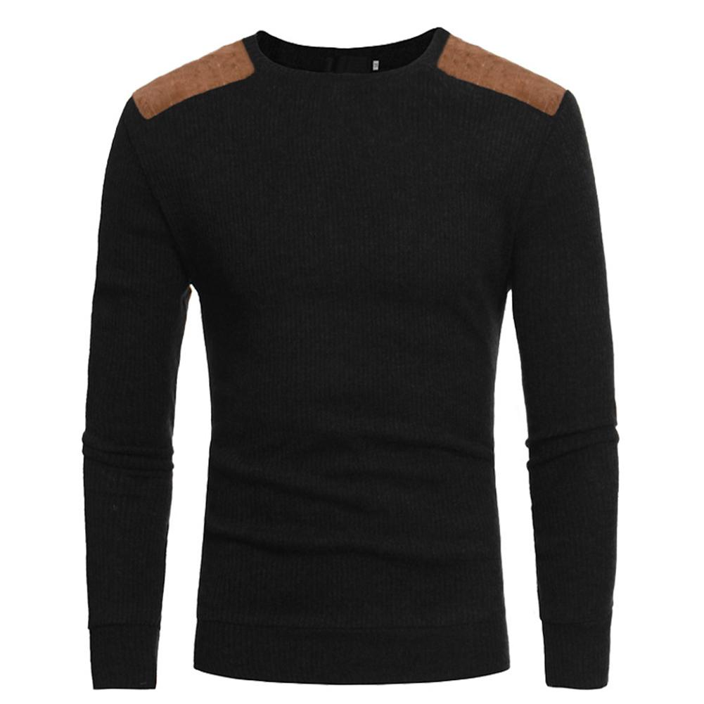 2019 Men Winter Warm Knitted Sweater Casual Pullover Round Neck Long Sleeve Slim Top