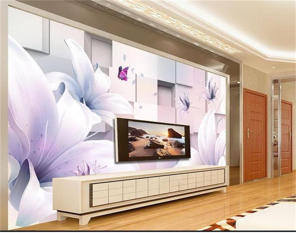 3d wallpaper custom photo mural living room dream lily flower block 3d painting sofa TV background wall wallpaper for walls 3 d beibehang golden fountain fair 3d photo wallpaper mural living room bedroom corridor tv background wallpaper for walls 3 d