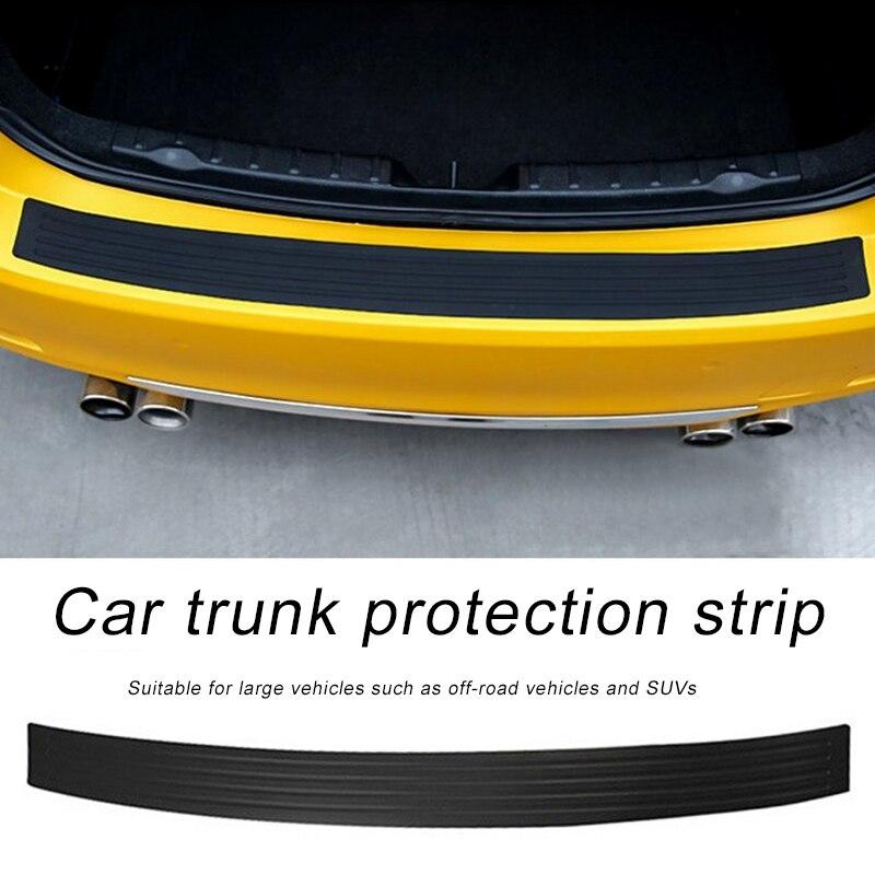 Автомобильная задняя часть внедорожника Резиновая полоса Универсальное Украшение анти-столкновения полоса прочная наклейка задний бампер Защитная полоска