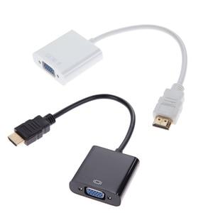 Image 2 - 1pcs מיקרו/מיני HDMI ל vga ממיר כבל מתאם 1080P VGA HDMI מתאם עבור מחשב מחשב שחור לבן