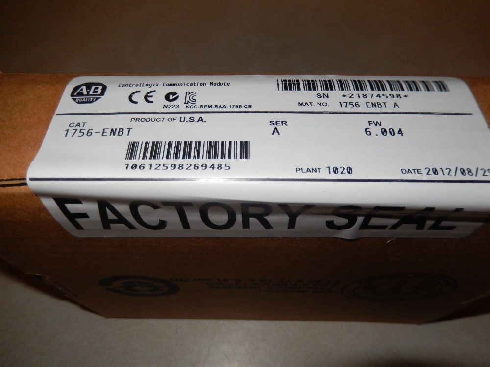 1756-ENBT 1756ENBT Allen Bradley New in orignal box, *FACTORY SEALED* FAST DELIVERY allen bradley 1756 pa75 1756pa75 controllogix ac power supply new and original 100% have in stock free shipping
