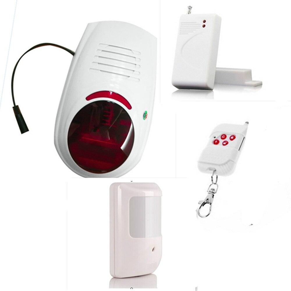 315/433 Mhz Беспроводной Внешний пятно сигнализация звуковой и световой сигнализации GSM Системы