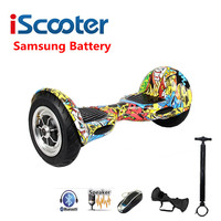 Iscooter hoverboard 10インチbluetooth電動スケートボード自己均衡スクーター2スマートホイールホバーボードでsamsungバッテリ