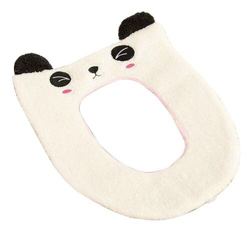 Моющиеся мультфильм крышку унитаза, мягкие Pad ткань верхней крышке теплее мат Ванная комната белый