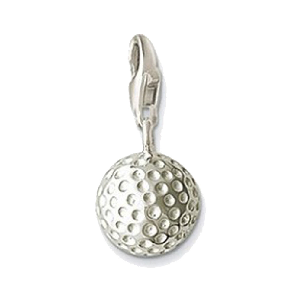 Muffiy Brand Silver Color Golf Ball Charms for Necklace Bracelet Glam Casual Women Jewelry Sporty Perhiasan Wholesale