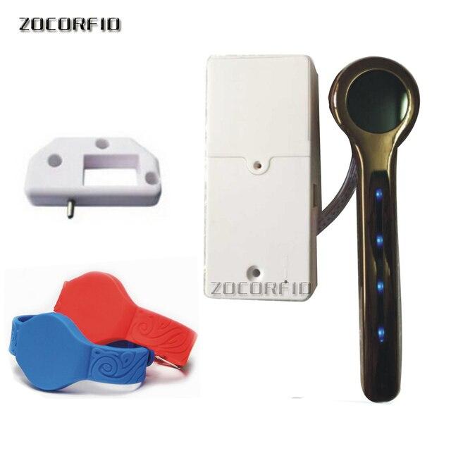 Us 2068 6 Offgratis Verzending 615 125 Khz Rfid Card Key Metalen Shell Elektronische Kast Locker Slot Met Droge Batterij Een Polsband In Gratis