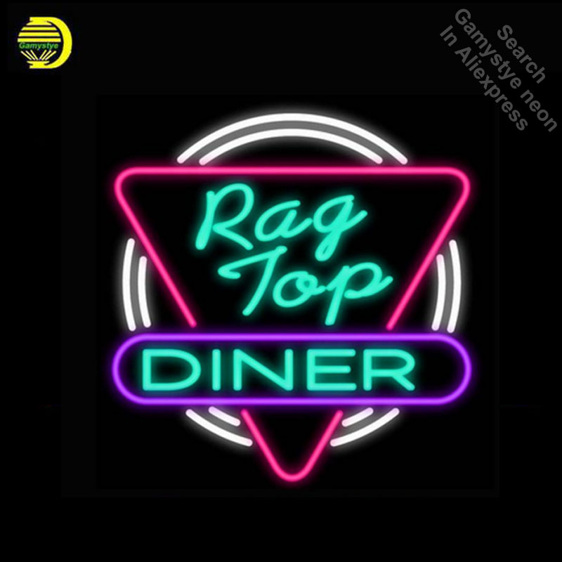 Rag Top Neon Sign light Animal Neon Bulbs Signage Vintage neon signs Business Sign Real Glass Tube Board Beer Sign 18x18 inches