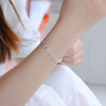 TJP New Fashion Smile Silver Bracelets For Women Jewelry Trendy 925 Anklets Girl Lady Party Accessories Female Bijou