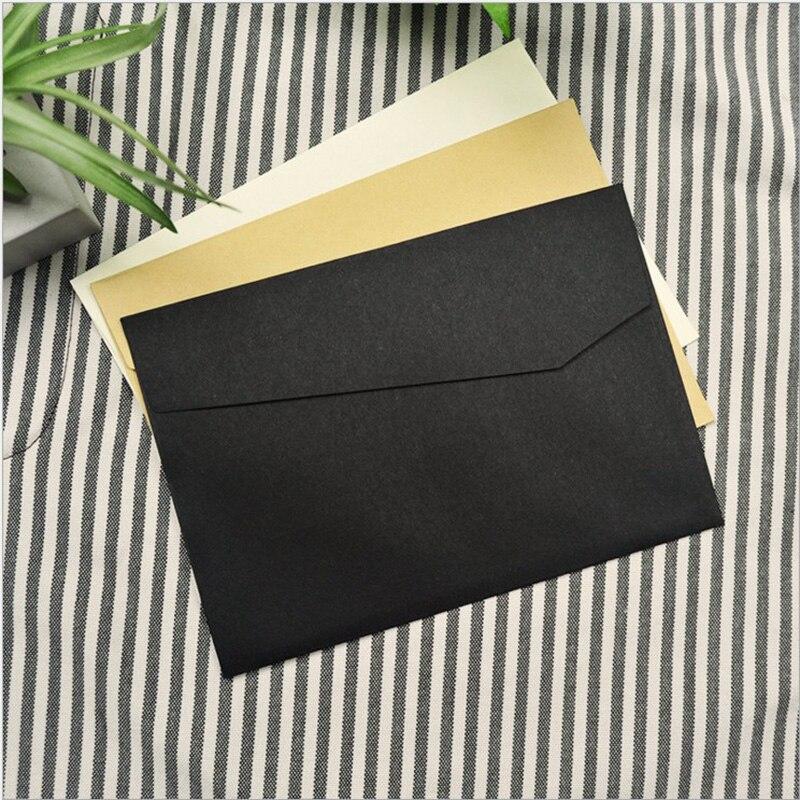 Wedding Invitation Envelope Sizes: 50pcs/set Vintage Kraft Blank Mini Paper Window Envelopes
