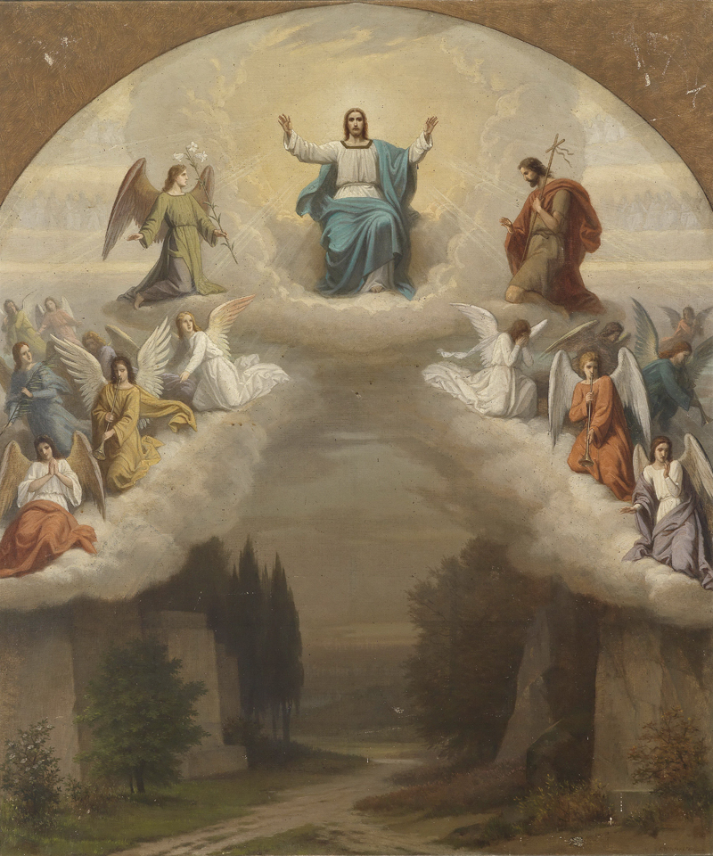free shipping classical religious figure angel Jesus heaven god canvas prints oil painting on canvas wall art decoration picture(China)