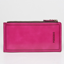 Hot Sell New Fashion Long Design Waxy Leather Women Wallets,Ultrathin Leather Wallets For Women,Vintage Carteira Feminina
