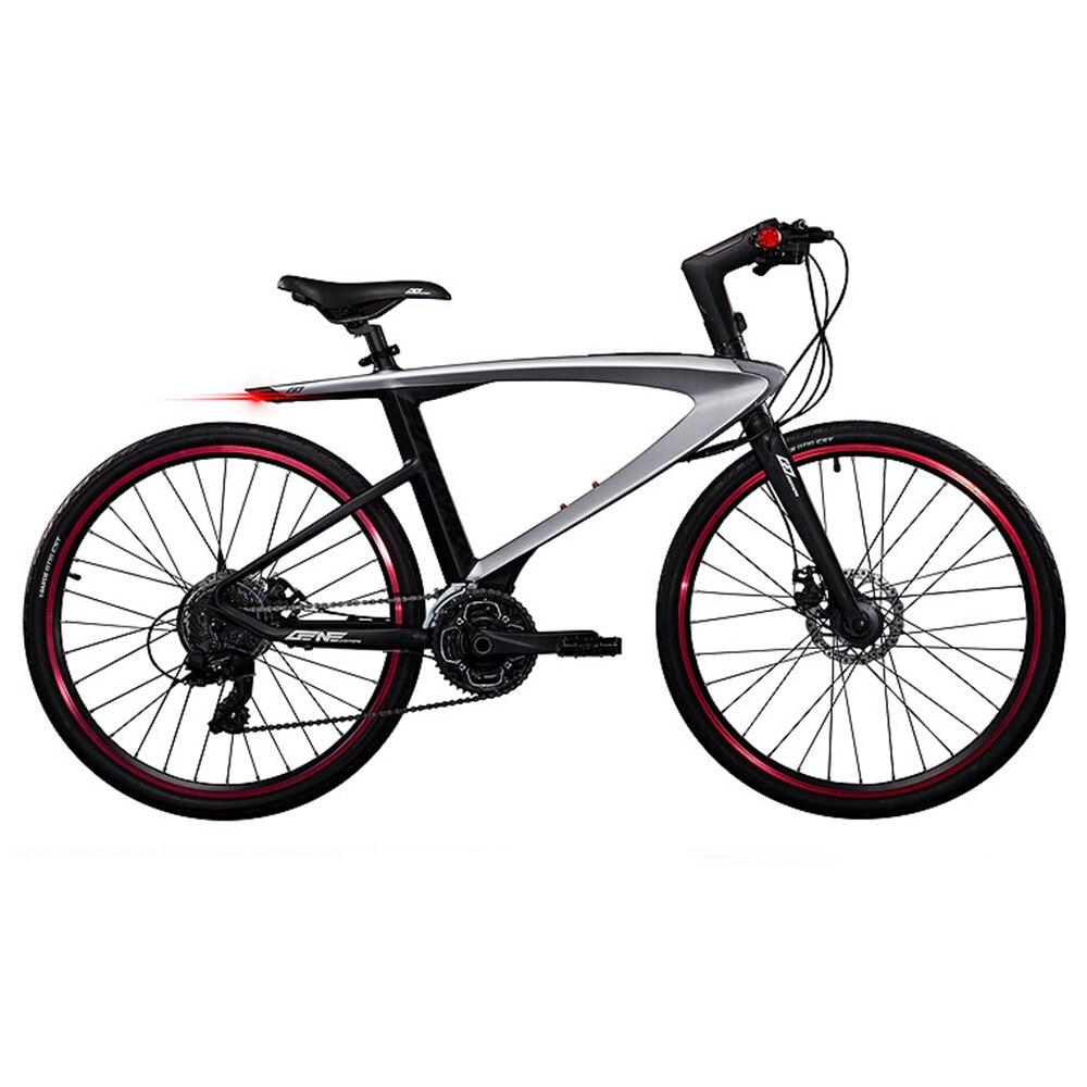 Vélo de route en Fiber de carbone à 30 vitesses, double frein à disque, vélo de route Super