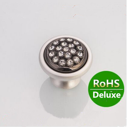 Fashion deluxe diamond furniture decoration knobs silver white drawer cabinet knob handle k9 crystal / black dresser pull  knob карабин black diamond black diamond rocklock twistlock
