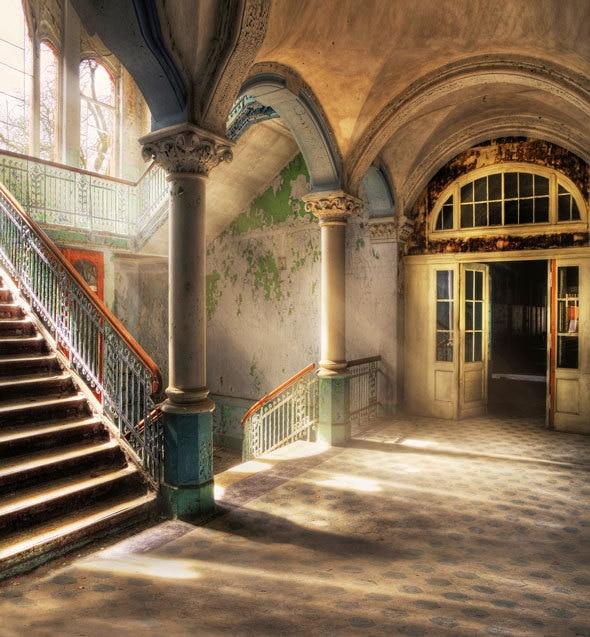 vintage old building french window sunlight fantasy. Black Bedroom Furniture Sets. Home Design Ideas