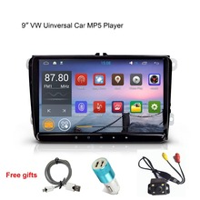 """9 """"Android reproductor mp5 del coche para vw/volkswagen passat/polo/b6/caddy 1080 P vídeo DVR GPS de audio Estéreo de radio Pantalla de creación de Reflejo y OBD2"""